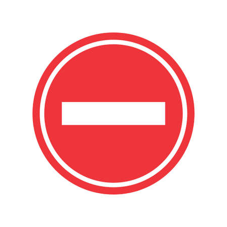 Stop sign. Stop icon isolated on white background. Vector illustration. Eps 10. Illustration