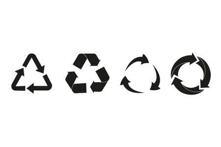 Set of recycle arrow. Vector illustartion