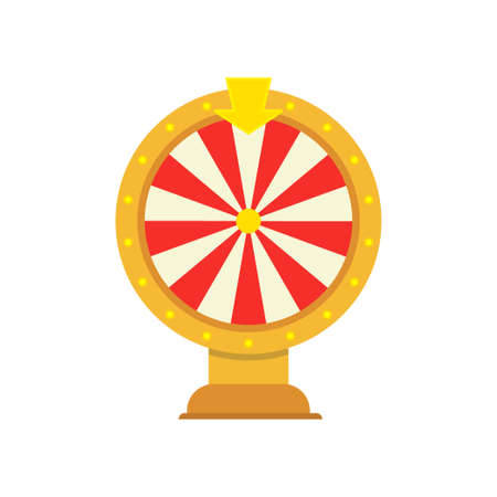 wheel of fortune object isolated on white Illustration