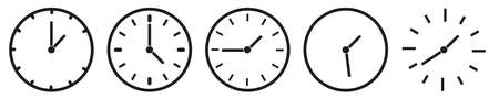 Clock icon set. Time clock icons collection. Illustration