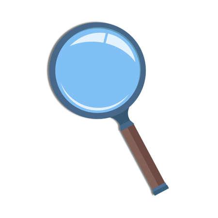 magnifying glass. vector illustration in flat design