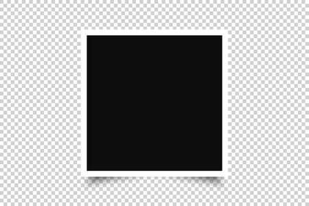 Vector Photo frame mockup design icon Illustration