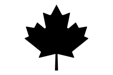 Canada maple leaf vector symbol clip art. Red maple leaf. Maple leaf vector icon. Vector illustration of a maple leaf.