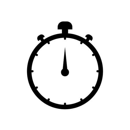 stopwatch icon on white background. Vector illustration