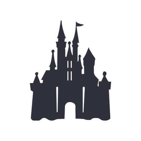 castle logo icon vector illustration design template - Vector Illustration