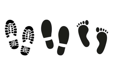 image of footprint silhouette. no effects used. Illustration