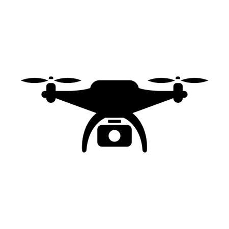 drone quadrocopter with action camera. Vector illustration