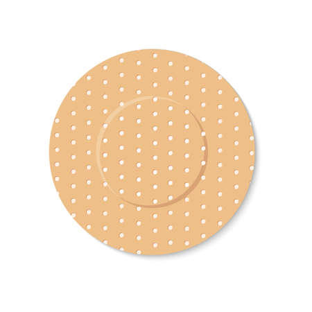 adhesive plaster on a white background Illustration