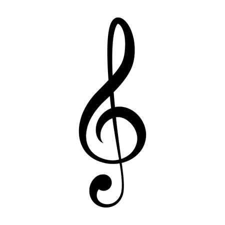treble clef icon. Vector illustration Illustration
