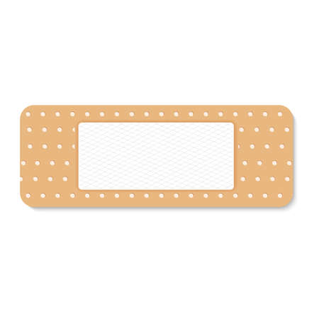 adhesive plaster on a white background. Vector illustration