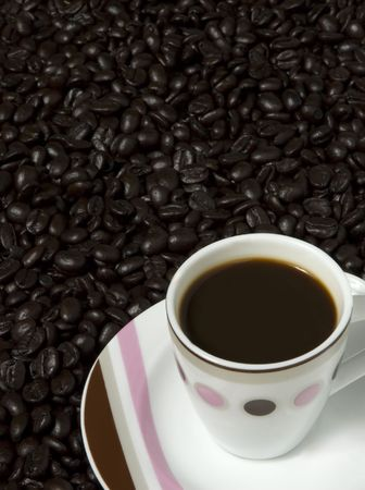 Good Morning Cup of Coffee - lots of room for copy Stock Photo