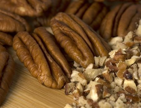 Pecans - whole and chopped.