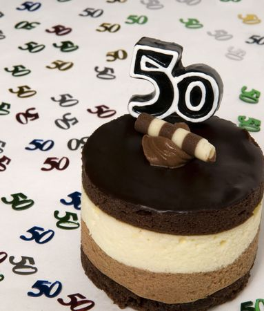 chocolate birthday cake: Happy Big 5-0! A cake just for you!