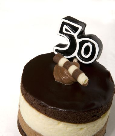 cake with icing: Happy Big 5-0! A cake for you! Stock Photo