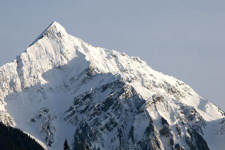 Wintery mountain top. Stock Photo