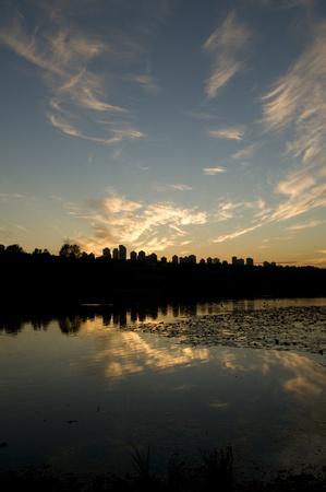 Sunset at Deer Lake, Burnaby, BC