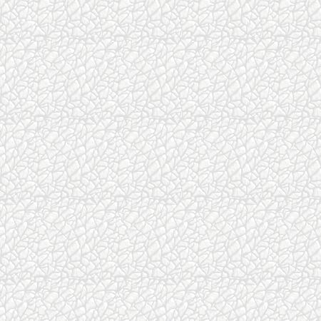 Nahaufnahmevektor nahtlose Textur des weißen Leders. Kann als Druck für Stoffe und Grafikdesign verwendet werden. Tierhaut Hintergrund.