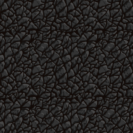 Closeup vector seamless texture of black leather. Can be used as a print for fabrics, and graphic design. Animal skin backround. Vectores