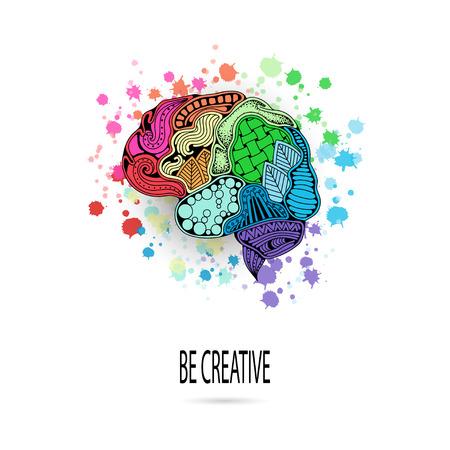 Concept of the human brain. Иллюстрация