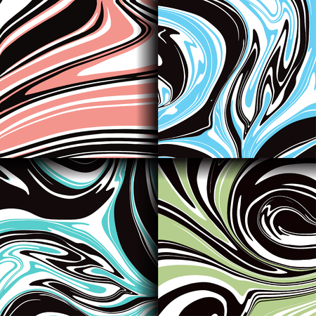 Set of marble texture. Abstract painting, can be used as background for wallpapers, posters, cards, invitations, websites. Marbled ink pattern, liquid paint.