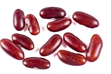 haricot: Red haricot beans on the white background