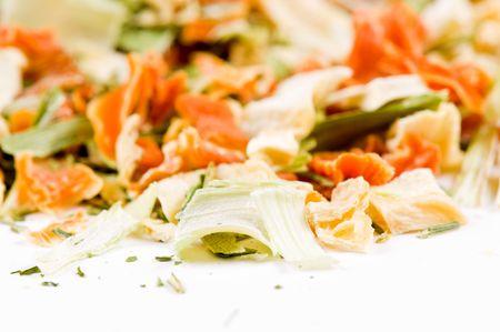 verdure: Dry verdure for soup, macro Stock Photo