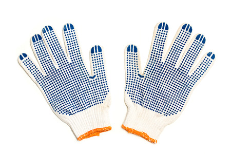 Worker cotton gloves Reklamní fotografie