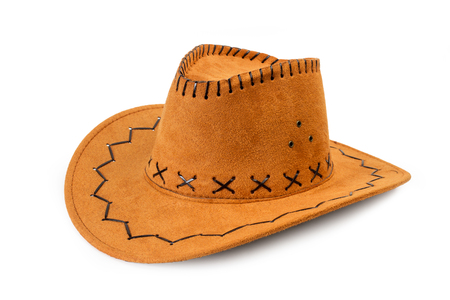 A cowboy hat in an isolated view
