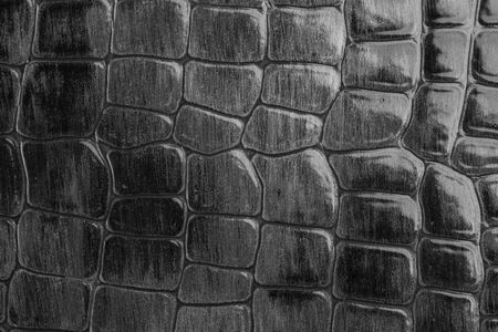 A gray leather cloth with reptile texture in a close up view