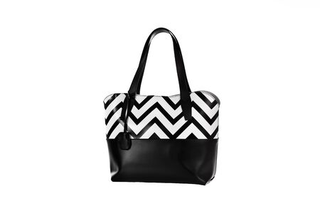 A white and black women hand bag