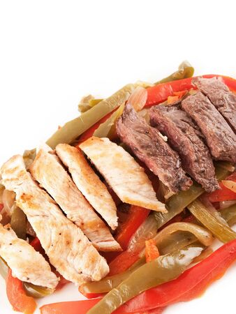 Meat and chicken with peppers Stock Photo - 129858600