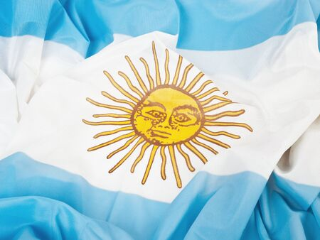 Argentinian flag in a close up view