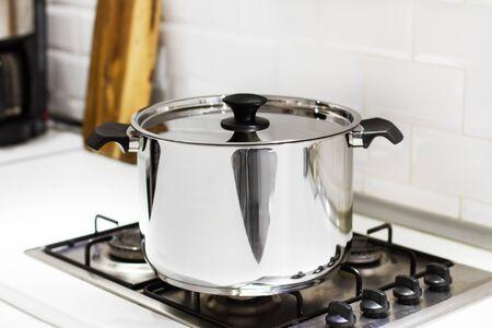 A saucepan on the kitchen