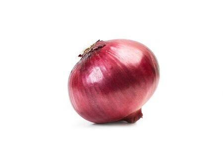 Purple onion on a white background Фото со стока