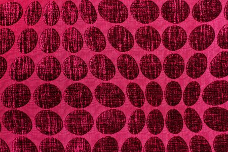 A texture of a pink wool texture with circles Stok Fotoğraf