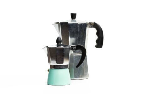 Italian coffee maker on a white background