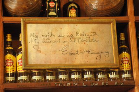 Havana, Cuba, June 2013 La Bodeguita del Medio Ernest Hemingway popular bar in Old Havana,Cuba Editorial