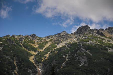 giewont: Landscape view over Polish Tatra  high mountains range famous tourist destination in Zakopane, Polish winter centre