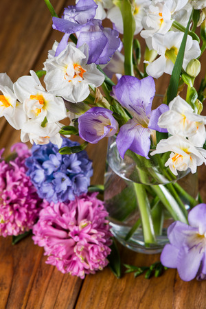 group of fresh spring flowers photo