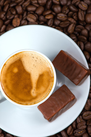 cousin: top view on coffee with chocolate Stock Photo