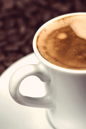 expresso: close view on cup of expresso coffee