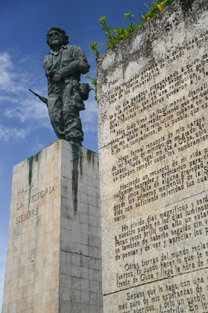 che guevara: SANTA CLARA, CUBA - DECEMBER 14, 2014 The Che Guevara Mausoleum in Santa Clara, Cuba. It houses the remains of executed Marxist revolutionary Ernesto Che Guevara.