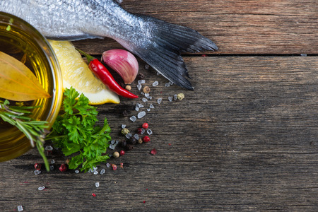 Lebensmittel Hintergrund von frischem Fisch, Kochen Konzept Standard-Bild - 36560968