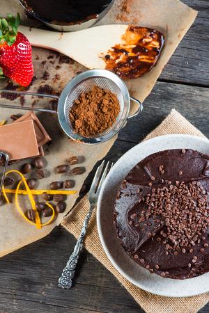 torte: dark chocolate torte cake