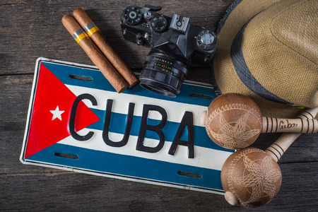 Background related to Cuba culture Stock Photo