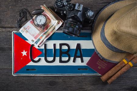 Holiday preparation, destination Cuba Reklamní fotografie