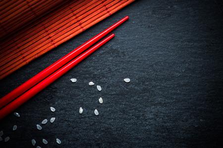 コピー スペースを持つ日本食メニューの背景
