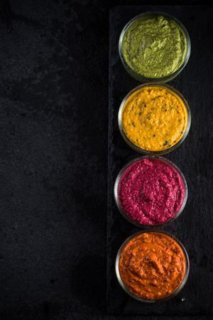 dip: organic vegetable dip selection