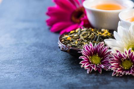aromatický: Aromatický čaj, jídlo Broder pozadí Reklamní fotografie