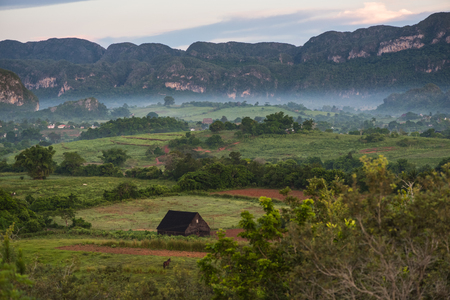 pinar: Mountains landscape of mogote in Vinales Valley in Cuba.
